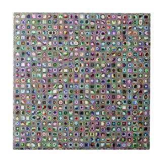 """Grün-blaue """"Bijoux"""" maserten Mosaik-Fliesen-Muster Kleine Quadratische Fliese"""
