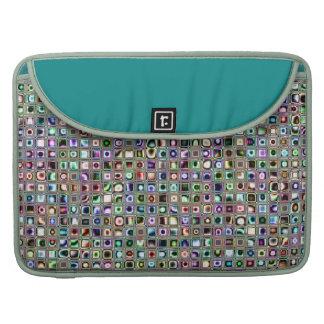 "Grün-blaue ""Bijoux"" maserten Mosaik-Fliesen-Muster MacBook Pro Sleeve"