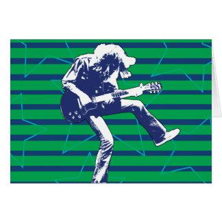 Grün-blaue Superstar-Geburtstags-Karte Karte