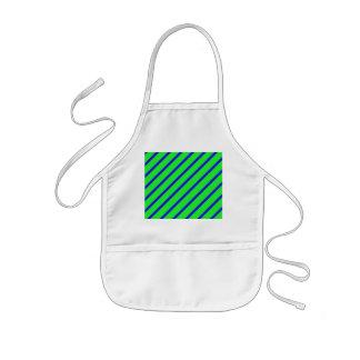 Grün-blaue winklige Streifen-abstrakte Kinderschürze