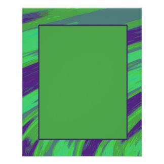 Grün-blauer FarbSwish 11,4 X 14,2 Cm Flyer