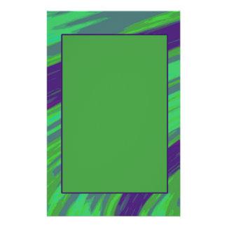 Grün-blauer FarbSwish 14 X 21,6 Cm Flyer