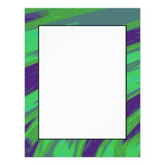 Grün-blauer FarbSwish 21,6 X 27,9 Cm Flyer