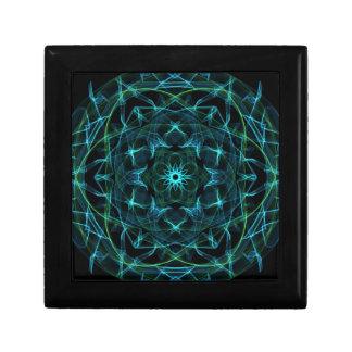 Grün-blauer Kreis Kleine Quadratische Schatulle