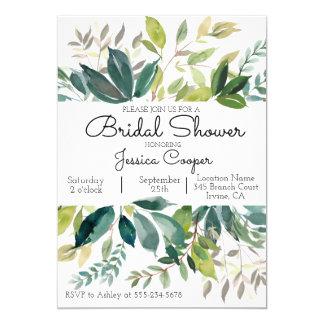 Grün-Blumenstrauß-Brautparty-Einladung Karte