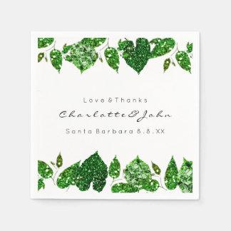 Grün Cali grüne Glitzer-Waldefeu-Blätter Papierserviette