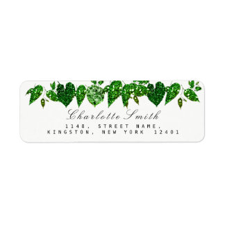 Grün Cali grünes Glitzer-Waldefeu-Blatt UAWG