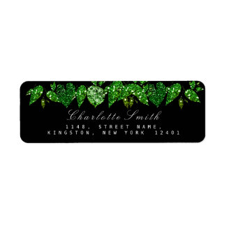 Grün Cali schwarzes Glitzer-Waldefeu-Blatt UAWG