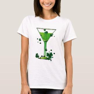 Grün-Cocktail-u. Kobold-Weiß St. Patricks Tages T-Shirt