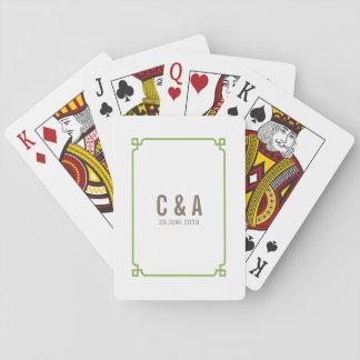 Grün-Dekochic-Hochzeits-Spielkarten Spielkarten