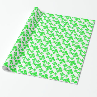 Grün der Lilien-4 Geschenkpapier