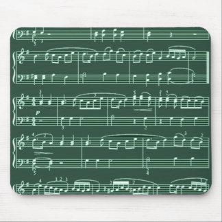 Grün der musikalischen Anmerkungen Mauspads