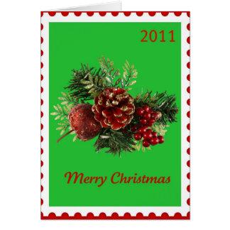 Grün der Weihnachtsursprüngliches Karte