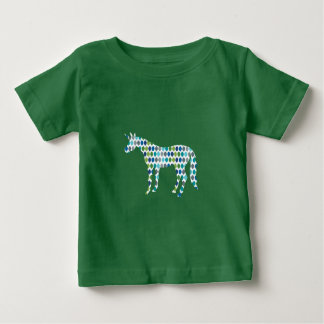 Grün-Einhorn Baby T-shirt