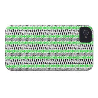 Grün Fleur Gewohnheits-1 iPhone 4 Etuis