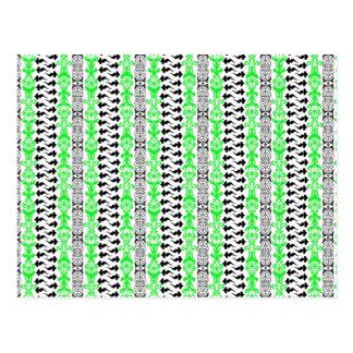 Grün Fleur Gewohnheits-1 Postkarten