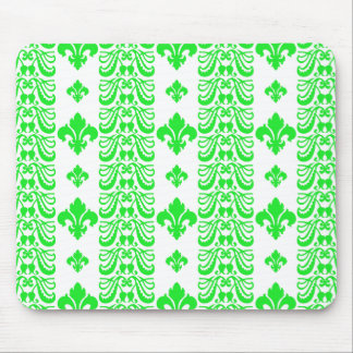 Grün Fleur Streifen-1 Mauspad