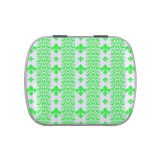 Grün Fleur Streifen-1 Süßigkeitenbox