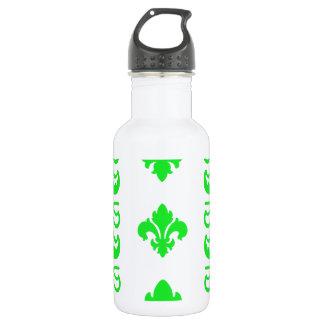 Grün Fleur Streifen-1 Trinkflasche