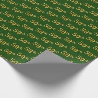 Grün, (fünfzigstes) Ereignis des Imitat-Gold50. Geschenkpapier