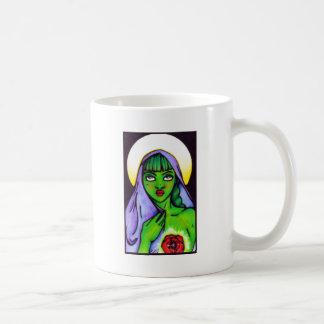 Grün für Herz-Rosa-Band Tasse