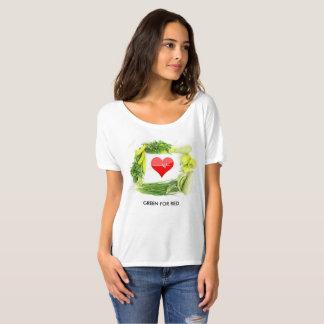 Grün für Rot, laden Ihre Gesundheit auf T-Shirt