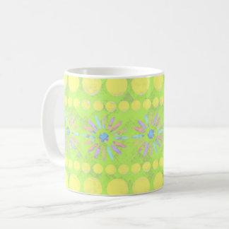 Grün gemustert kaffeetasse