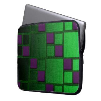 Grün gemustert laptop sleeve