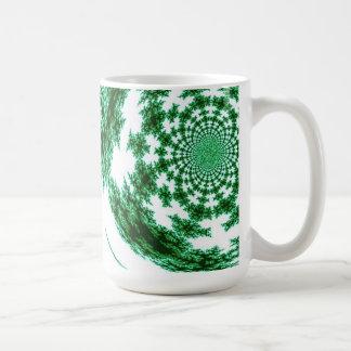 Grün gesponnener Faden Kaffeetasse