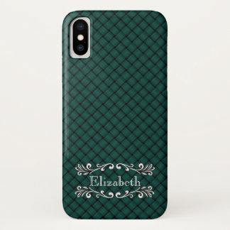 Grün gesponnenes Customizeable iPhone X Hülle