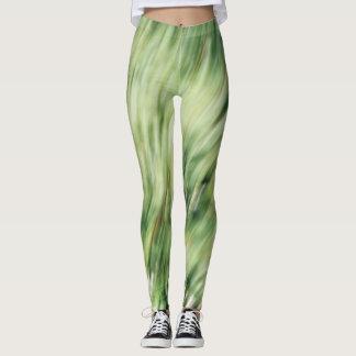 Grün gezeichnete Gamaschen Leggings