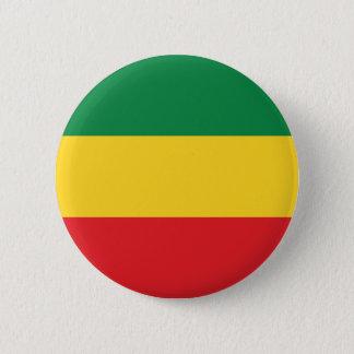 Grün, Gold (gelb) und rote Farbflagge Runder Button 5,7 Cm