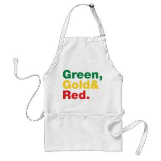 Grün, Gold u. Rot Schürze