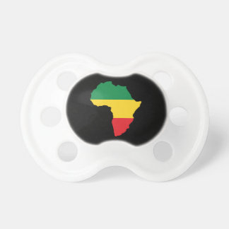Grün Gold u rote Afrika-Flagge Baby Schnuller