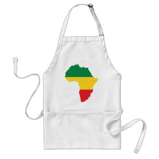 Grün, Gold u. rote Afrika-Flagge Schürze