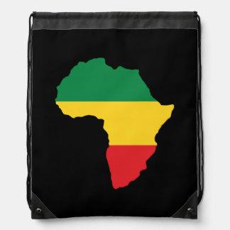 Grün, Gold u. rote Afrika-Flagge Turnbeutel