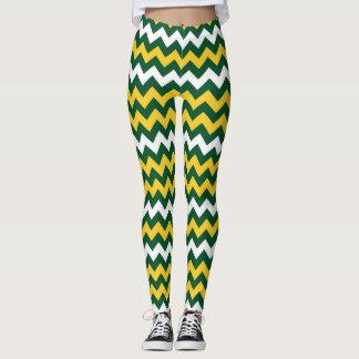 Grün, Goldwisconsin-Fußball färbt Greenbay Leggings