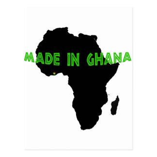 Grün hergestellt in Ghana Postkarte