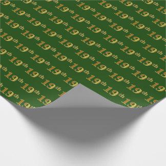 Grün, Imitat-Gold19. (19.) Ereignis Geschenkpapier
