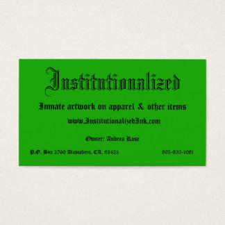 grün, institutionalisiert, Insassegrafik auf APP… Visitenkarte