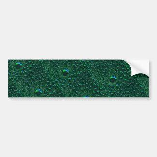 Grün ist die Hoffnung  Grüne Regentropfen Muster Autoaufkleber