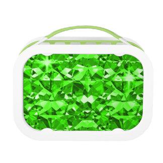 Grün ist glänzende funkelnde Diamanten Brotdose