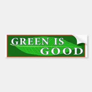 Grün ist gut autoaufkleber