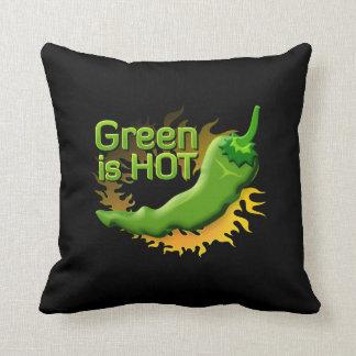 Grün ist HEISS Kissen