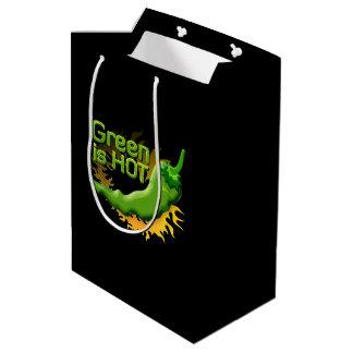 Grün ist HEISS Mittlere Geschenktüte