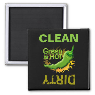 Grün ist HEISS Quadratischer Magnet
