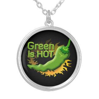 Grün ist HEISS Versilberte Kette