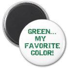 Grün ist meine Lieblingsfarbe Runder Magnet 5,7 Cm