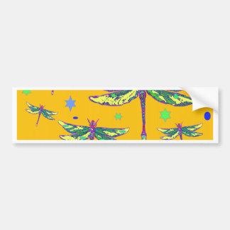 Grün-Lila Libellen-gelbe Geschenke durch Sharles Autoaufkleber