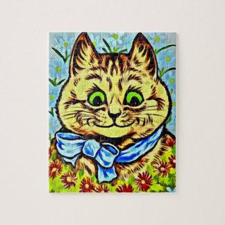GRÜN-mit Augen Puzzle-Louis Wains CAT Katzen Puzzle